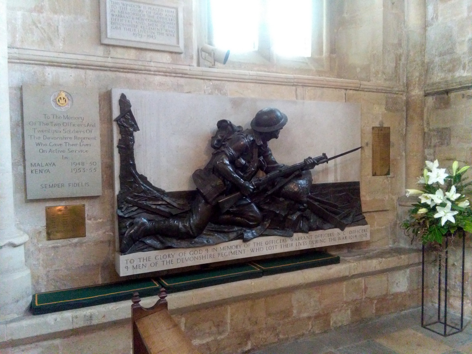 Great War Memorials In Exeter Cathedral
