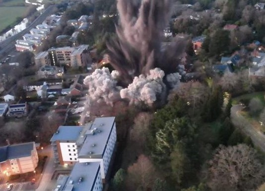 WWII Bomb Blast In Exeter Causes Damage To Nearby Buildings 696×388